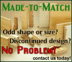 made to measure mouldings and trim for discontinued design or odd shape and size